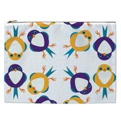 Pattern Circular Birds Cosmetic Bag (xxl)  by Onesevenart