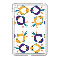 Pattern Circular Birds Apple Ipad Mini Case (white) by Onesevenart