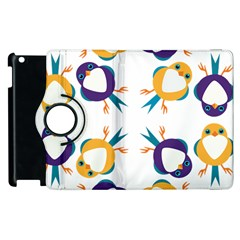 Pattern Circular Birds Apple Ipad 3/4 Flip 360 Case by Onesevenart