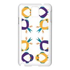 Pattern Circular Birds Samsung Galaxy Note 3 N9005 Case (white) by Onesevenart