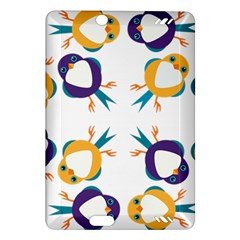 Pattern Circular Birds Amazon Kindle Fire Hd (2013) Hardshell Case by Onesevenart