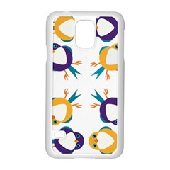 Pattern Circular Birds Samsung Galaxy S5 Case (white) by Onesevenart