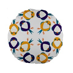 Pattern Circular Birds Standard 15  Premium Flano Round Cushions by Onesevenart