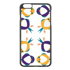 Pattern Circular Birds Apple Iphone 6 Plus/6s Plus Black Enamel Case by Onesevenart