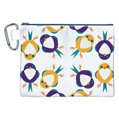 Pattern Circular Birds Canvas Cosmetic Bag (xxl) by Onesevenart