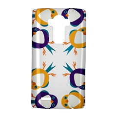 Pattern Circular Birds Lg G4 Hardshell Case by Onesevenart