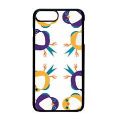 Pattern Circular Birds Apple Iphone 7 Plus Seamless Case (black) by Onesevenart