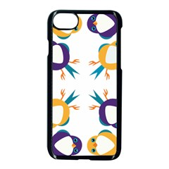 Pattern Circular Birds Apple Iphone 7 Seamless Case (black) by Onesevenart