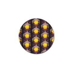 Pattern Background Yellow Bright Golf Ball Marker (10 Pack) by Onesevenart