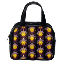 Pattern Background Yellow Bright Classic Handbags (one Side) by Onesevenart