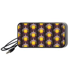 Pattern Background Yellow Bright Portable Speaker (black) by Onesevenart