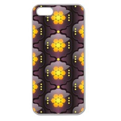 Pattern Background Yellow Bright Apple Seamless Iphone 5 Case (clear) by Onesevenart