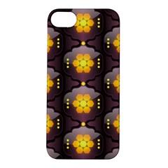 Pattern Background Yellow Bright Apple Iphone 5s/ Se Hardshell Case by Onesevenart