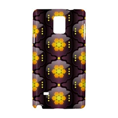 Pattern Background Yellow Bright Samsung Galaxy Note 4 Hardshell Case by Onesevenart