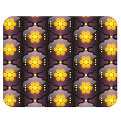 Pattern Background Yellow Bright Double Sided Flano Blanket (medium)  by Onesevenart