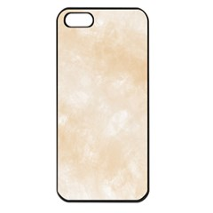 Pattern Background Beige Cream Apple Iphone 5 Seamless Case (black) by Onesevenart