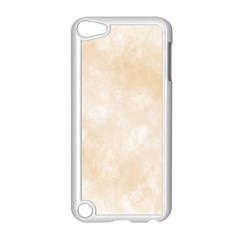 Pattern Background Beige Cream Apple Ipod Touch 5 Case (white) by Onesevenart