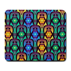 Pattern Background Bright Blue Large Mousepads by Onesevenart