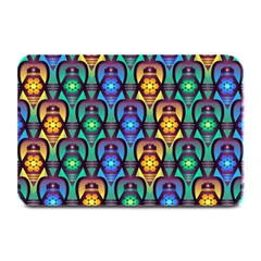 Pattern Background Bright Blue Plate Mats by Onesevenart