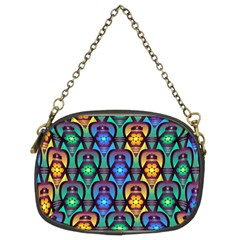 Pattern Background Bright Blue Chain Purses (two Sides)  by Onesevenart