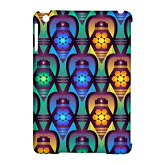 Pattern Background Bright Blue Apple Ipad Mini Hardshell Case (compatible With Smart Cover) by Onesevenart