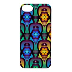 Pattern Background Bright Blue Apple Iphone 5s/ Se Hardshell Case by Onesevenart