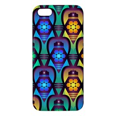 Pattern Background Bright Blue Iphone 5s/ Se Premium Hardshell Case by Onesevenart