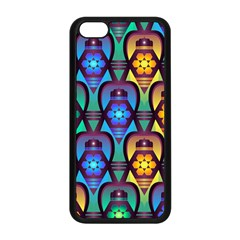 Pattern Background Bright Blue Apple Iphone 5c Seamless Case (black) by Onesevenart