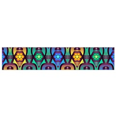 Pattern Background Bright Blue Flano Scarf (small) by Onesevenart