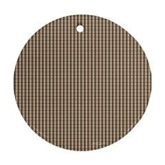 Pattern Background Stripes Karos Ornament (round) by Onesevenart