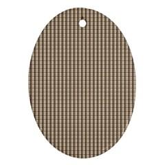 Pattern Background Stripes Karos Ornament (oval) by Onesevenart