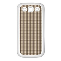 Pattern Background Stripes Karos Samsung Galaxy S3 Back Case (white) by Onesevenart