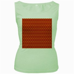 Pattern Creative Background Women s Green Tank Top by Onesevenart