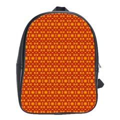 Pattern Creative Background School Bags(large)  by Onesevenart