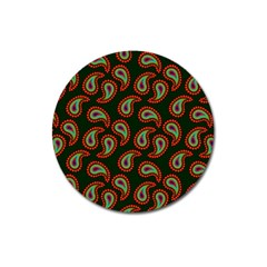 Pattern Abstract Paisley Swirls Magnet 3  (round) by Onesevenart