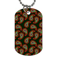 Pattern Abstract Paisley Swirls Dog Tag (one Side) by Onesevenart