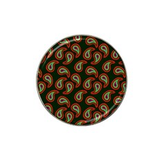 Pattern Abstract Paisley Swirls Hat Clip Ball Marker (4 Pack) by Onesevenart