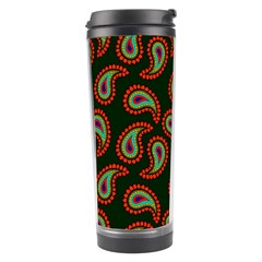 Pattern Abstract Paisley Swirls Travel Tumbler by Onesevenart