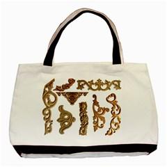 Pattern Motif Decor Basic Tote Bag by Onesevenart
