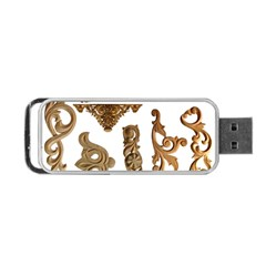 Pattern Motif Decor Portable Usb Flash (two Sides) by Onesevenart