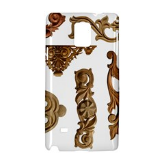 Pattern Motif Decor Samsung Galaxy Note 4 Hardshell Case by Onesevenart