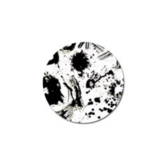 Pattern Color Painting Dab Black Golf Ball Marker (10 Pack) by Onesevenart