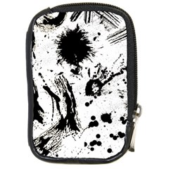 Pattern Color Painting Dab Black Compact Camera Cases by Onesevenart