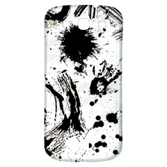 Pattern Color Painting Dab Black Samsung Galaxy S3 S Iii Classic Hardshell Back Case by Onesevenart