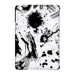 Pattern Color Painting Dab Black Apple Ipad Mini Hardshell Case (compatible With Smart Cover) by Onesevenart