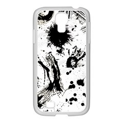 Pattern Color Painting Dab Black Samsung Galaxy S4 I9500/ I9505 Case (white) by Onesevenart