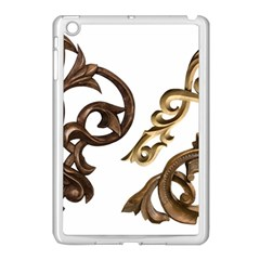Pattern Motif Decor Apple Ipad Mini Case (white) by Onesevenart