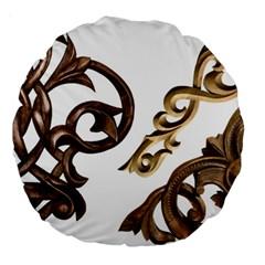 Pattern Motif Decor Large 18  Premium Round Cushions by Onesevenart