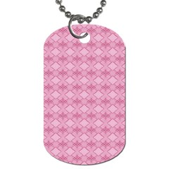 Pattern Pink Grid Pattern Dog Tag (two Sides) by Onesevenart