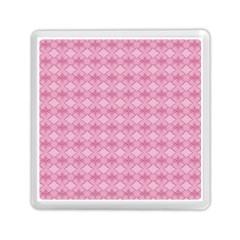 Pattern Pink Grid Pattern Memory Card Reader (square)  by Onesevenart